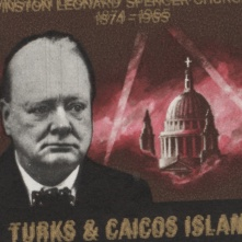 Turks & Caicos Islands 8d Churchill Commemoration with gold double