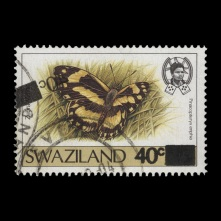 Swaziland 1990 40c/55c Zebra White with surcharge offset on front