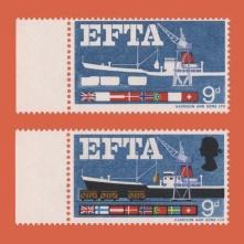 9d EFTA missing four colours