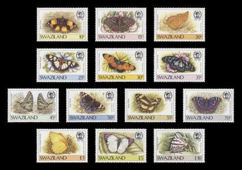 1987 Butterflies definitive series