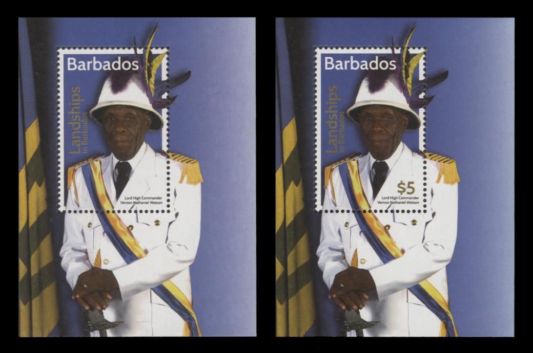 Barbados 2016 Landships missing $5 value